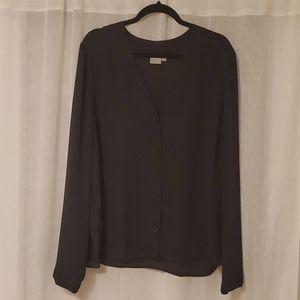 ASOS black button up blouse in sz 16